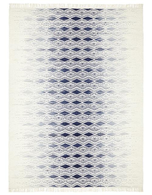 Small Geometric Fade Wool Rug, Ivory (IVORY), large