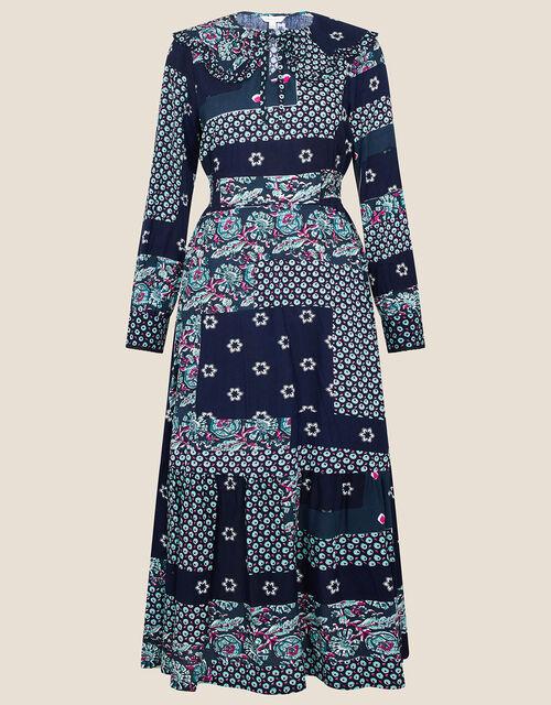 ARTISAN STUDIO Patch Print Dress , Black (BLACK), large