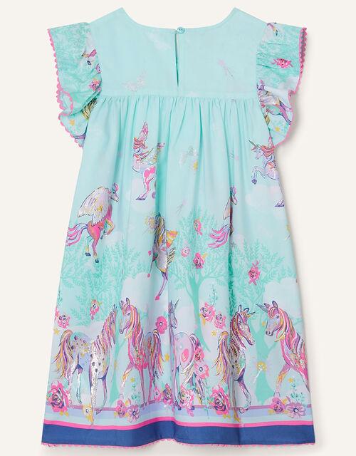 Unicorn Sparkle Swing Dress , Blue (AQUA), large