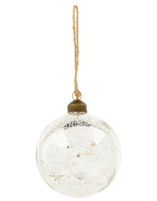 Star Glass Christmas Bauble, , large