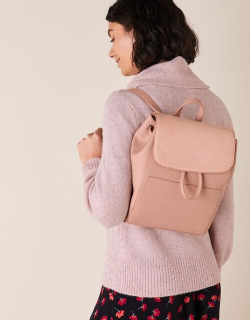 Paxton Pocket Backpack, Pink (BLUSH), large