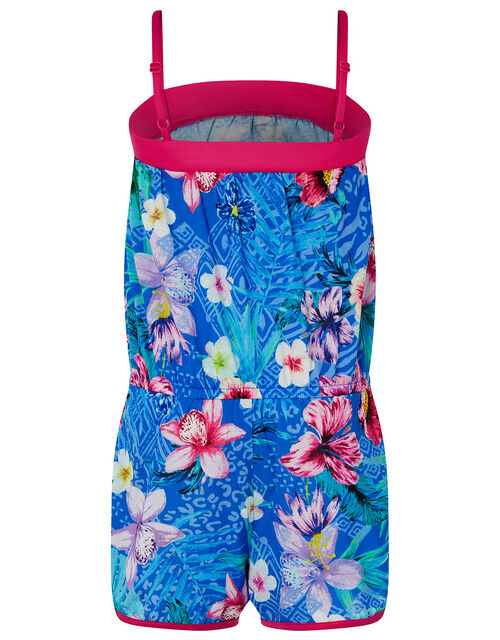 Tikito Floral Playsuit, Blue (BLUE), large