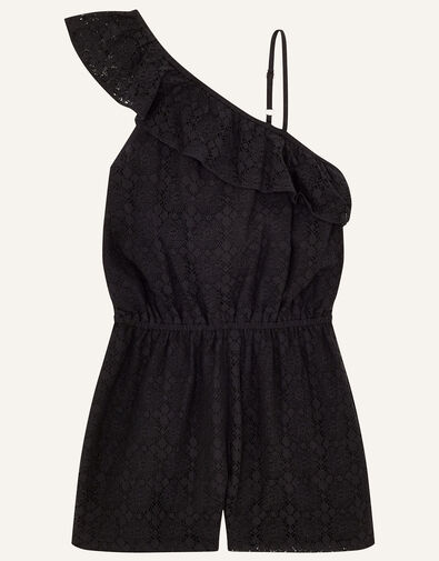 Lace Playsuit  Black, Black (BLACK), large