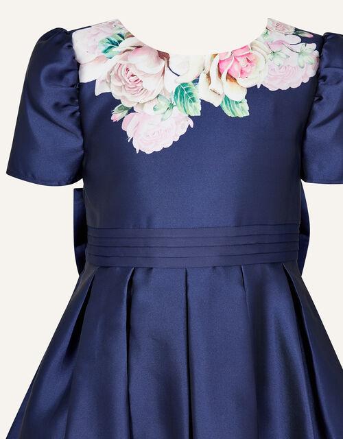 Henrietta Floral Print Dress, Blue (NAVY), large
