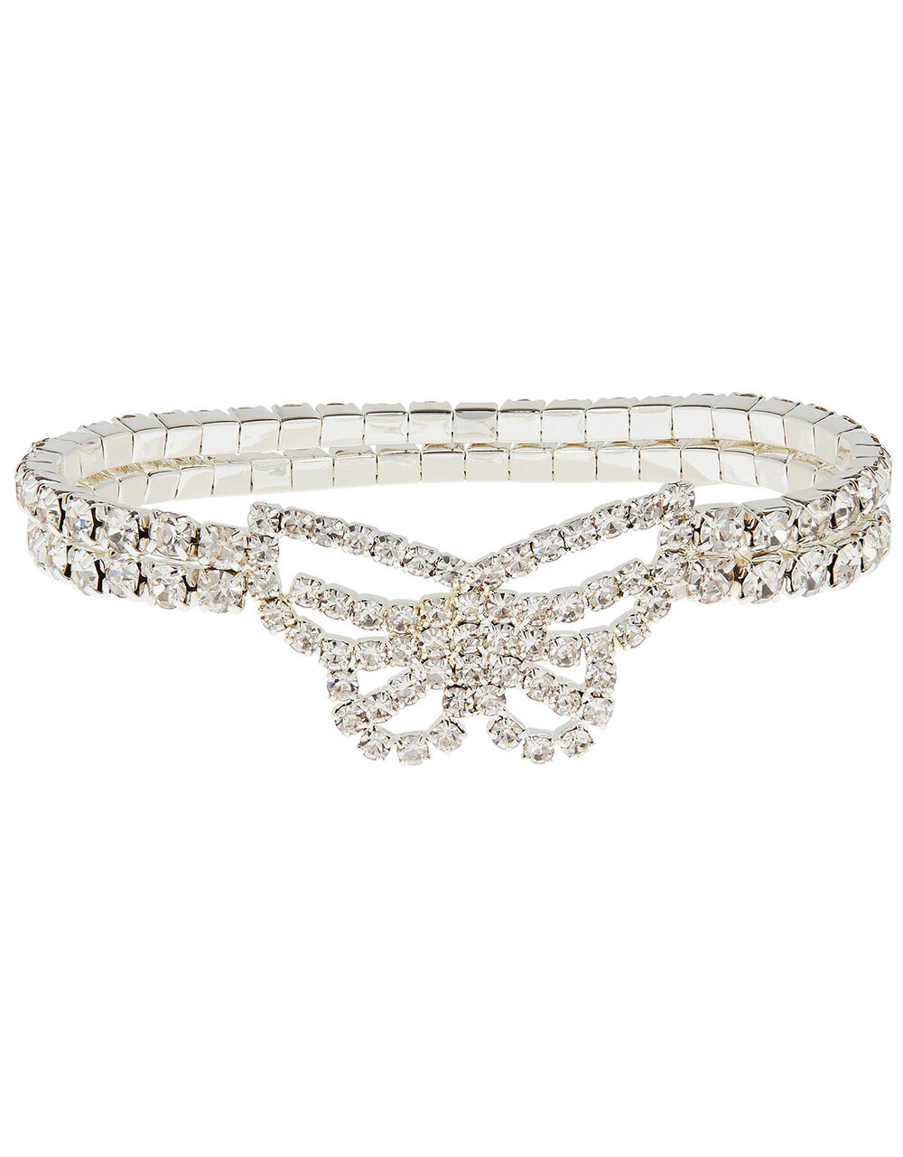 Sparkle Butterfly Stretch Bracelet, , large