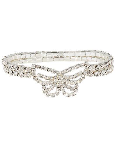 Sparkle Butterfly Stretch Bracelet, , large