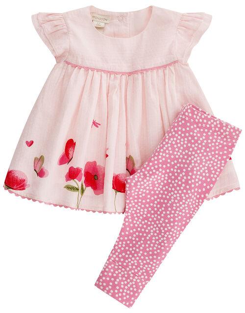 Newborn Baby Pippa Top and Legging Set, Pink (PINK), large