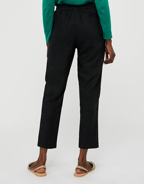 Lightweight Joggers in Pure Linen Black, Black (BLACK), large