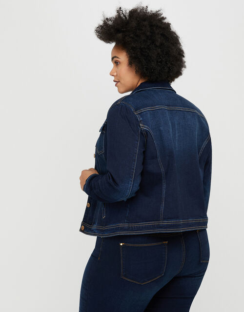 Daria Denim Jacket with Organic Cotton and Recycled Polyester, Blue (INDIGO), large