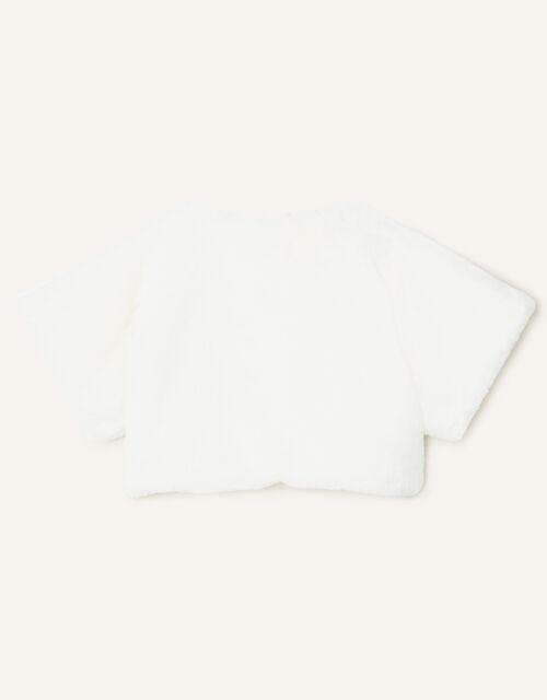 Faux Fur Shrug, Ivory (IVORY), large