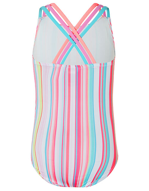 Sameria Stripe Swimsuit with Recycled Polyester, Multi (MULTI), large
