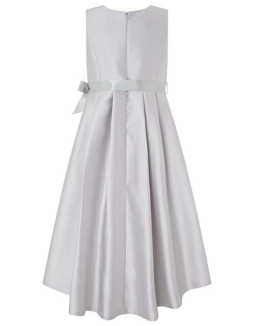 Lucinda Twill and Lace Occasion Dress, Grey (GREY), large