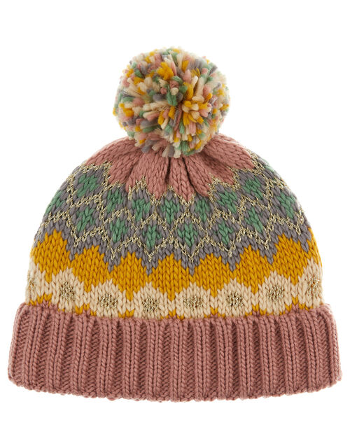 Gayle Zig-Zag Sparkle Knit Beanie, Multi (MULTI), large