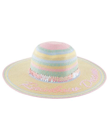 Rainbow Dreams Sequin Floppy Hat Multi, Multi (MULTI), large