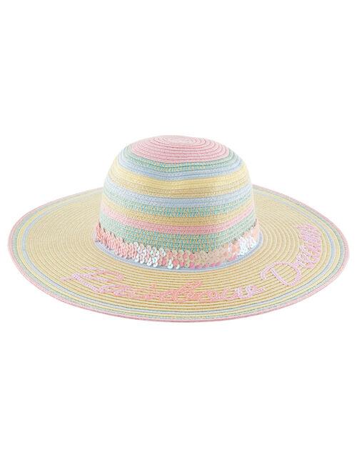 Rainbow Dreams Sequin Floppy Hat, Multi (MULTI), large