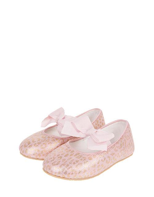 Baby Leonie Leopard Walker Shoes, Pink (PALE PINK), large