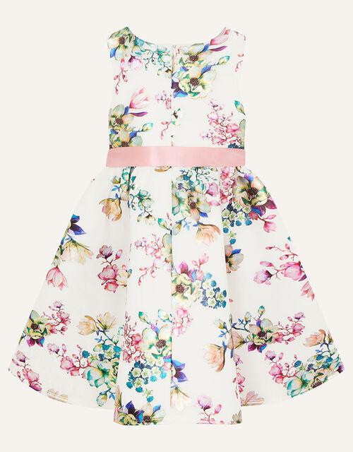 Foil Floral Scuba Dress, Ivory (IVORY), large