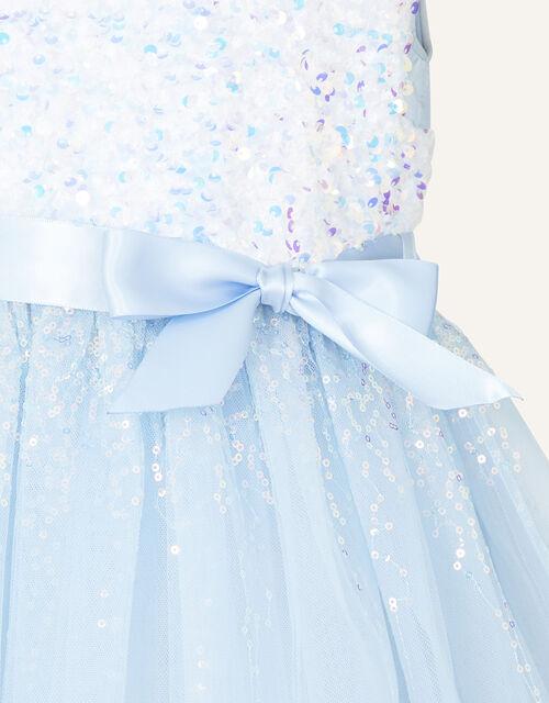 Safire Sequin Dress, Blue (BLUE), large