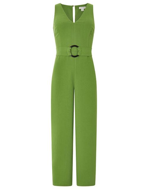 Gilly V Neck Jumpsuit, Green, large