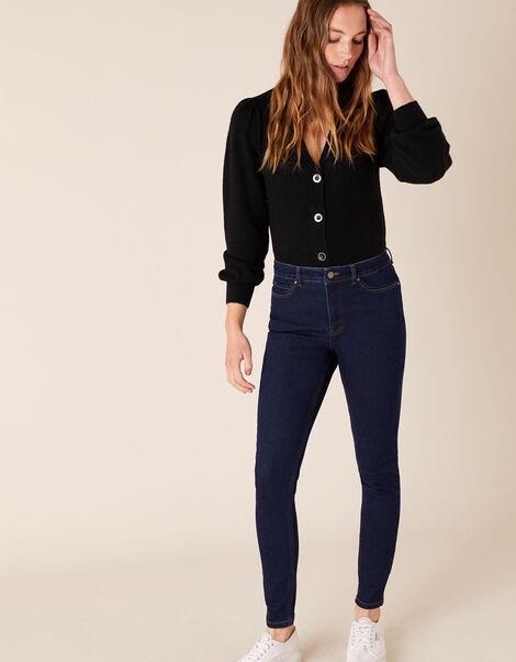 Iris Short-Length Skinny Jeans Blue, Blue (BLUE/BLACK), large