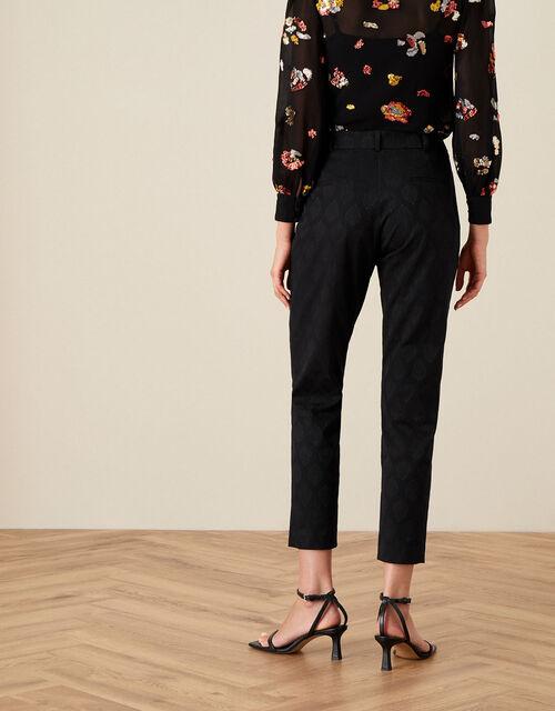 Josie Jacquard Trousers, Black (BLACK), large