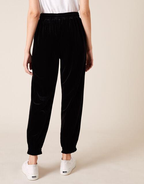 Velvet Joggers, Black (BLACK), large