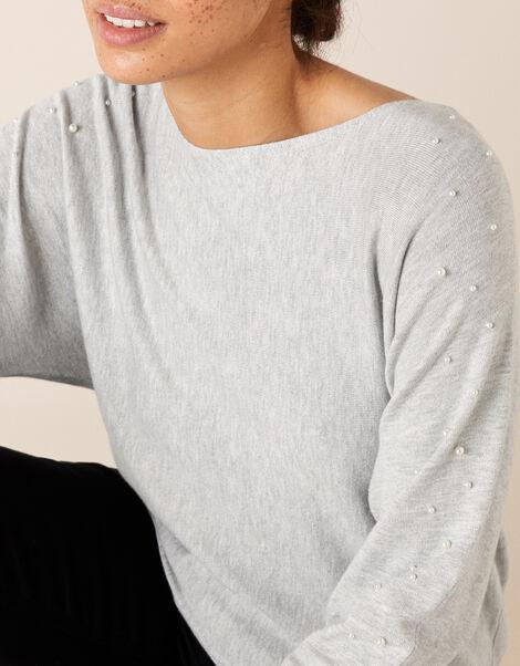 Pearl Dolman Jumper Grey, Grey (GREY MARL), large
