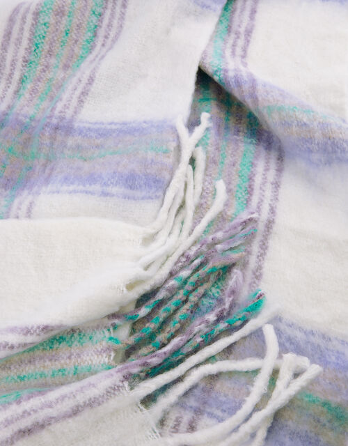 Pastel Check Blanket Scarf, , large