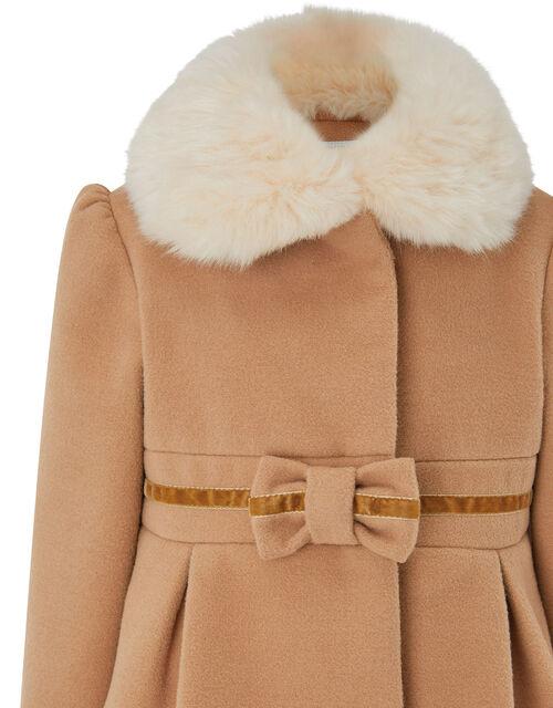 Baby Bow Coat, Camel (CAMEL), large