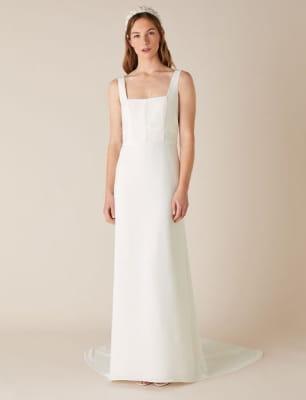 Deja square neck bridal dress ivory