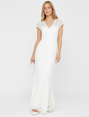 Nellie bridal lace maxi dress