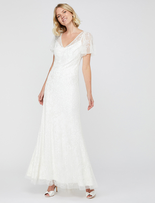 Kitty bridal embellished maxi dress